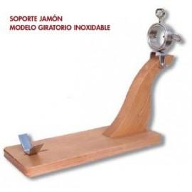 Soporte de Jamón Giratorio Madera - Inoxidable