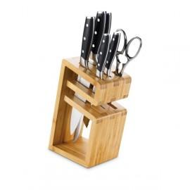 6-Pieces 'E TOLEDO' Beechwood Cutlery Block - 3 Claveles