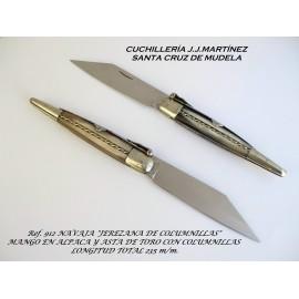 Navaja Jerezana Columnillas Cuerno Toro