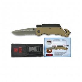 Rescue Pocket knife RUI - TITANIUM & Flashlight