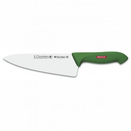 """3 Claveles 8263 Cuchillo Cocinero 20 cm 8"""" Proflex"""