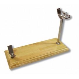 Soporte Jamonero horizontal base madera. ref.:17001