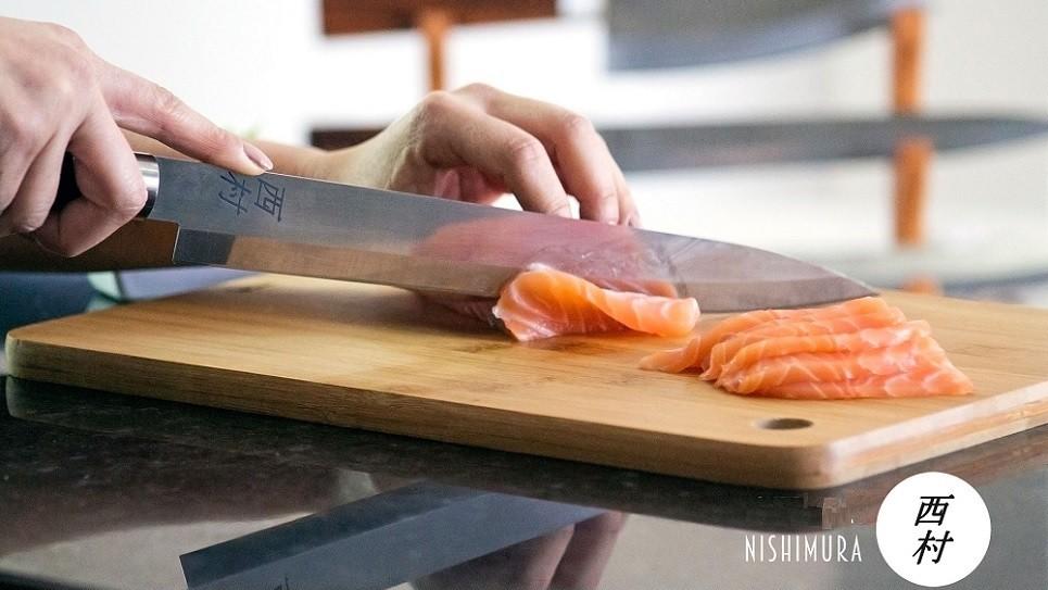 Facas Japonesas Artesanais Feitas a mao pelo maesteo Nishimura - Facas japonesas para o arte do sushi