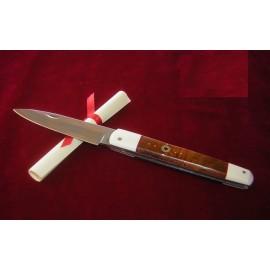 Exposito Pocket Knife Machete Steel VG-10 Damascus - Desert Wood - Ivory
