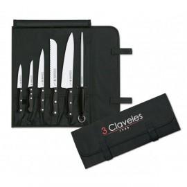 3 Claveles 1704 Trousse Couteaux Chef Uniblock