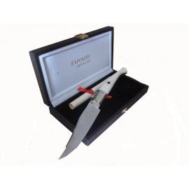 Cordobesa Exposito Pocket Knife, 8.5 cms - Bone OSTRICH