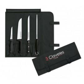 3 Claveles 1702 Mallette Professionnel Couteaux Jambon