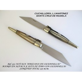 Couteux Jerezana Columnillas - Corne Taureau