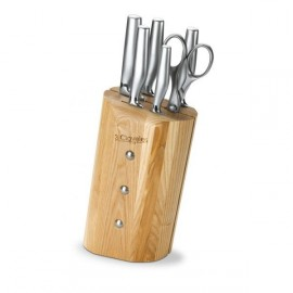 3 Claveles 1666 Ash Platina Beechwood Cutlery Block