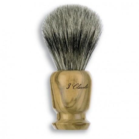 3 Claveles 12700 Badger Shaving Brush/Olive