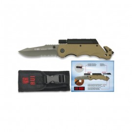 Rescue Pocket knife RUI - TITANIUM & Flashlight