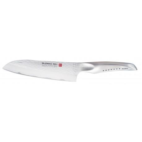Global SAI-03 Cuchillo Santoku 19 cm Hammered