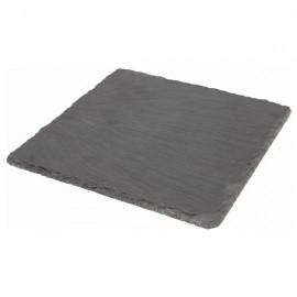 "Genware SLTN-2020 Natural Edge Slate Platter 8 X 8"""