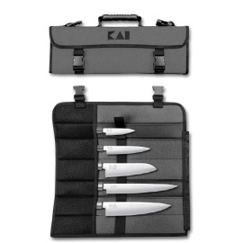 KAI DM-0781EU67 Chef's knife case 8 positions with 5 Wasabi knives