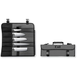 Kai DM-0781JP67 Knife Bag and 5 Knife Sushi Set 6710P, 6715D, 6716N, 6716S, 6721Y