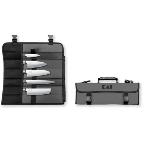 Kai DM-0781JP67 Knife Bag and 5 Knife Set: 6710P, 6715D, 6716N, 6716S, 6721Y