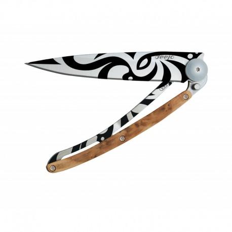 Deejo Tattoo 37G,Tribal / juniper wood