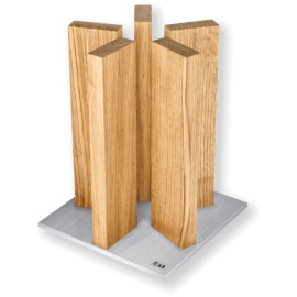 Kai Stonehenge empty stand 5 pieces stainless steel/oak