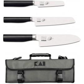 Kai Shun Tim Malzer Kamagata - Maletín de Cocina con 3 Cuchillos Kai