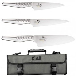 Kai Seki Shoso 3-piece knife bag set