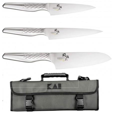 Kai Seki Shoso - Cook Case 3 Kai Knives