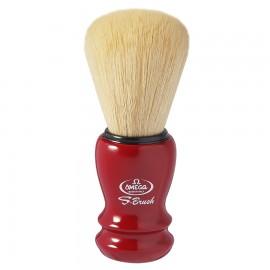 Omega S10108 S-Brush Blaireau de Rasage Rouge Synthétiques