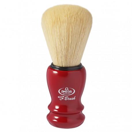 Omega S10108 Shaving Brush Garnet Handle Synthetic