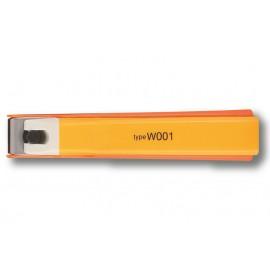 Cortaúñas recto Kai de acero inoxidable Naranja Type W001 - KE0109