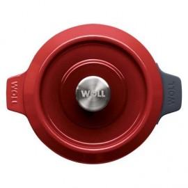 Olla de Hierro Fundido Chili Red de 24 cm - Woll Iron 124CI-010