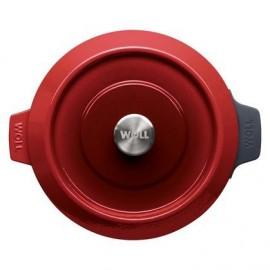 Cacerola de Hierro Fundido Chili Red de 28 cm - WOLL Iron 828CI-010