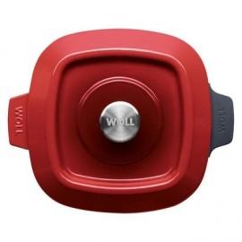 Cocotte carré en Fonte Chili Red de 24x24 cm - WOLL Iron 1024CI-010
