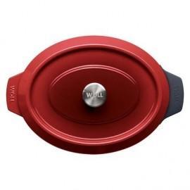 Rustidera de Hierro Fundido Chili Red de 34x26 cm - WOLL Iron 3426CI-010
