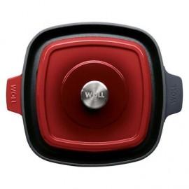 Parrilla de Hierro Fundido Chili Red de 28x28 cm - WOLL Iron 628-2CI-010