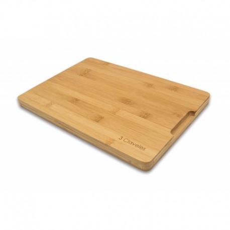 3 Claveles 04665 Tabla de Corte 33 x 23 x 2 cm BAMBU