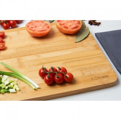 3 Claveles 04666 Cutting Board 40 x 30 x 2 cm BAMBOO