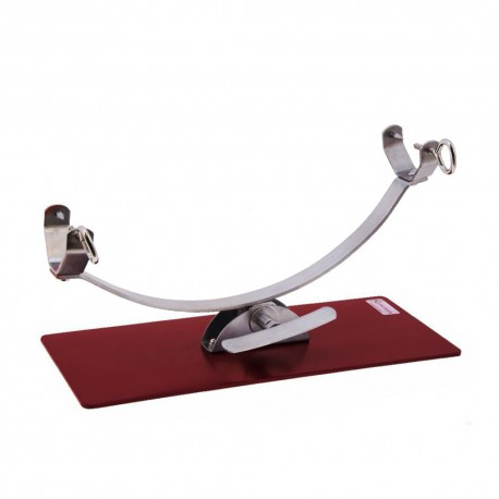 Flores Cortes 17936 Rotating Ham Stand with steel base in red