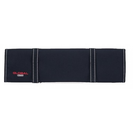 Global G-668/10 Knife roll with zipper and velcro 9 knives