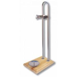 Soporte Jamonero modelo Vertical Base de Madera - Inox.