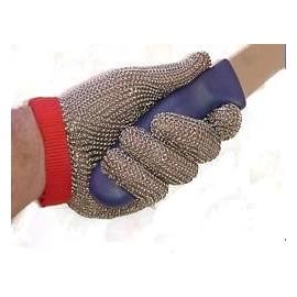Gant de maille métallique avec courroie