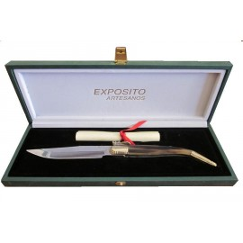 Craft Pocket Knife Collection - Exposito - Horn Zebú