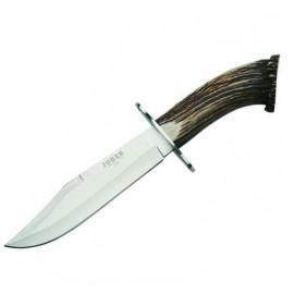 Joker CN100 Couteau Chasse Bowie 20 cm Corne de Cerf