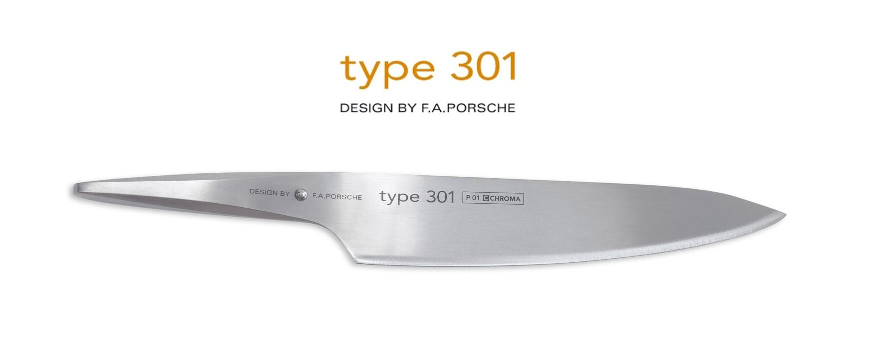 Cuchillos Chroma Type 301 diseño F.A. Porsche